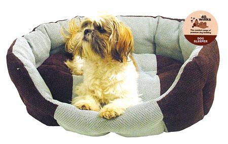 choc aqua dog sleeper
